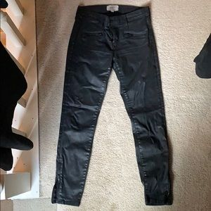 Current Elliot faux (coated) leather jeans